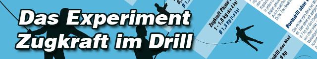 Banner das experiment zugkraft im drill