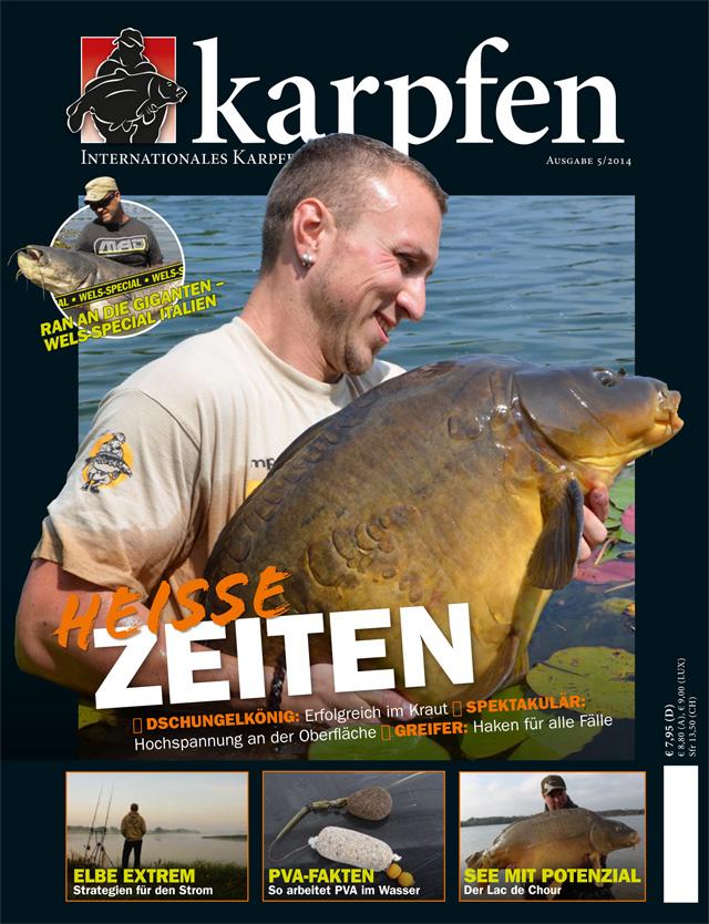 Titelcover KARPFEN August Ausgabe 2014 640
