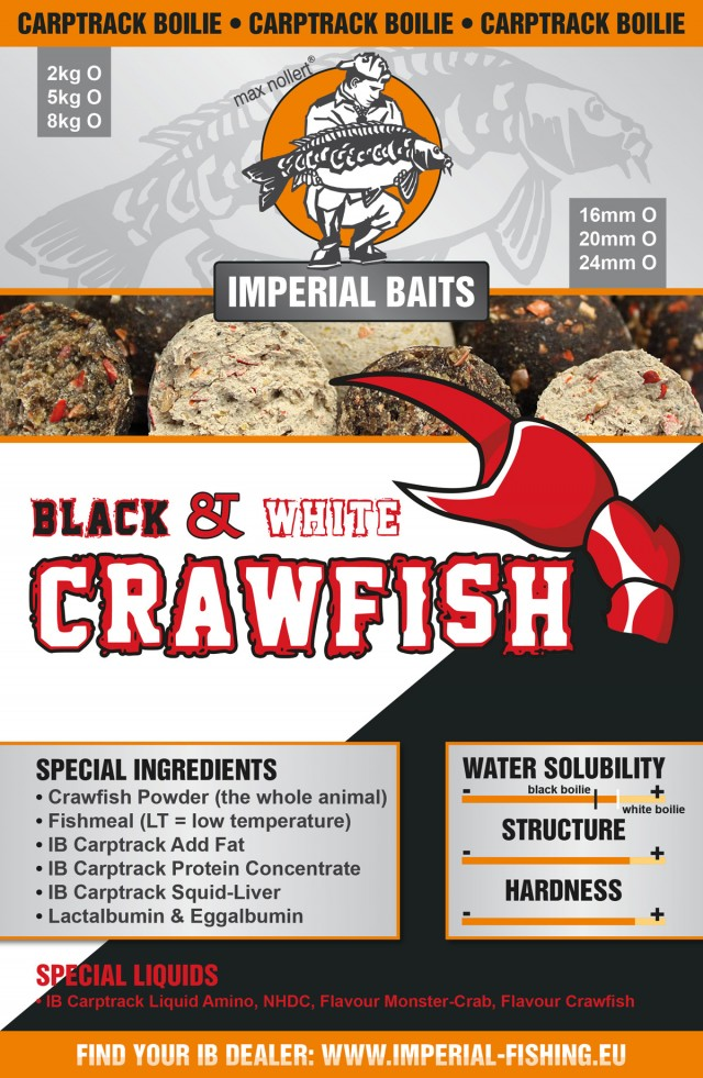 CRAWFISH black & white Boilie - 2 5 8kg