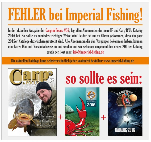 fehler bei imperial fishing