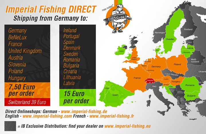 Imperial Fishing Direct Europe map 1200