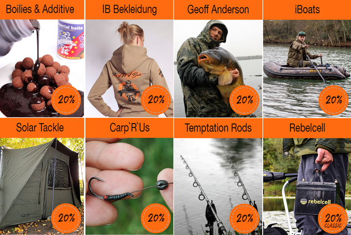 20% maximaler Rabatt bei Imperial Fishing