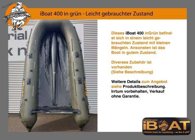 iBoat 400 (Gen2) grün leicht gebrauchter Zustand